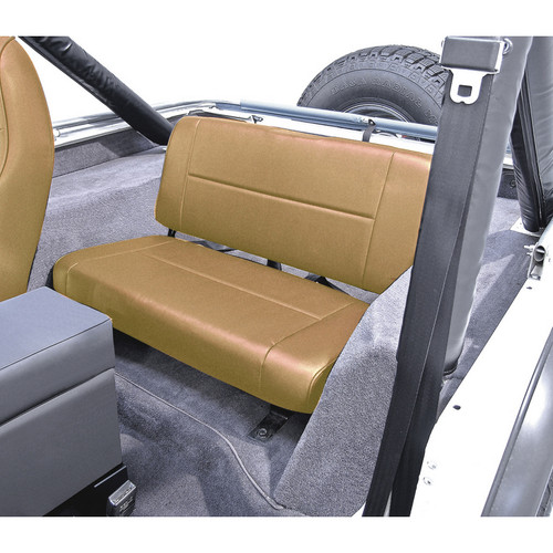 Rugged Ridge Fixed Rear Seat, Tan; 55-95 Jeep CJ/Wrangler YJ 13461.04