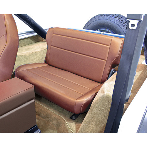 Rugged Ridge Fold and Tumble Rear Seat, Tan; 76-95 Jeep CJ/Wrangler YJ 13462.04