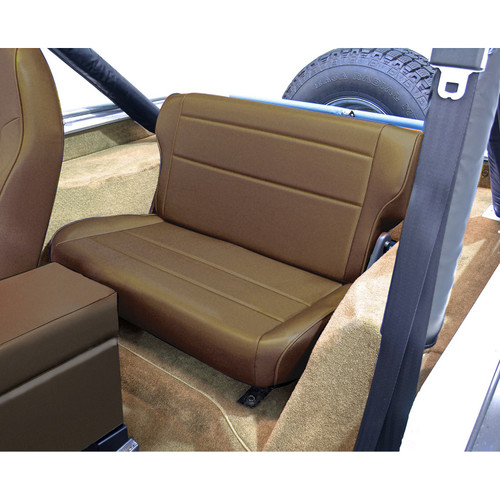 Rugged Ridge Fold and Tumble Rear Seat, Nutmeg; 76-95 Jeep CJ/Wrangler YJ 13462.07
