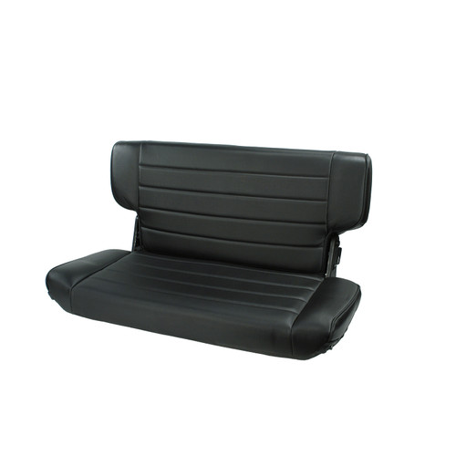 Rugged Ridge Fold and Tumble Rear Seat, Black Denim; 97-02 Jeep Wrangler TJ 13463.15