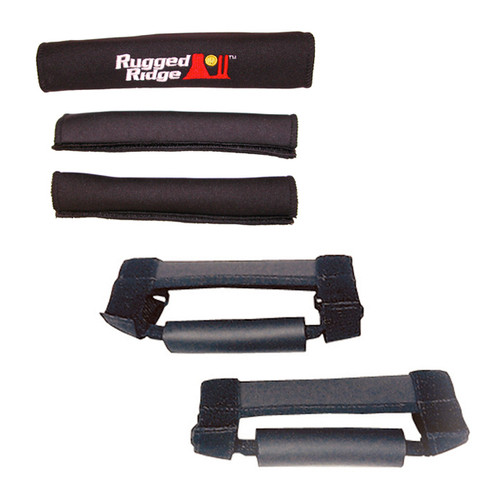 Rugged Ridge Grab Handle Kit, Black; 97-06 Jeep Wrangler TJ/LJ 13505.15