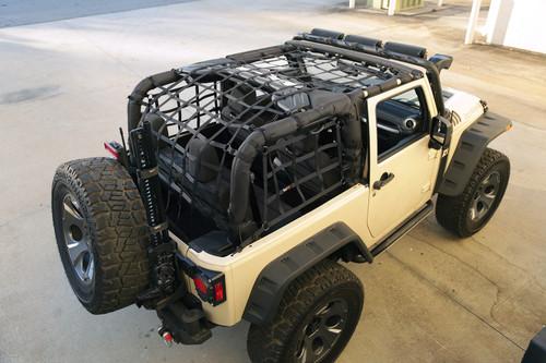 Rugged Ridge Cargo Net, Black; 07-16 Jeep Wrangler JK 2-Door 13552.70