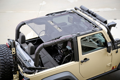 Rugged Ridge Eclipse Sun Shade, Black, 2 Door; 07-16 Jeep Wrangler JK 13579.06