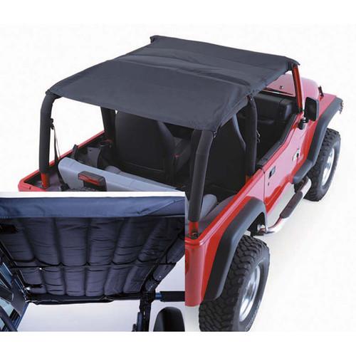 Rugged Ridge Acoustic Island Topper Soft Top, Black Denim; 97-06 Jeep Wrangler TJ 13582.15