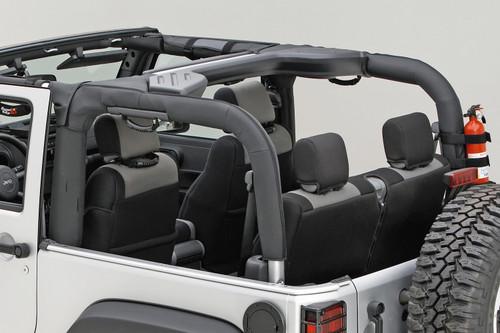 Rugged Ridge Roll Bar Cover, Black Polyester; 07-16 Jeep Wrangler JK 13613.02