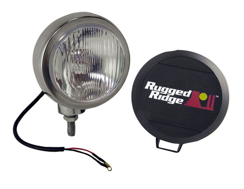 Rugged Ridge 5 Inch Round HID Off Road Fog Light Kit, Stainless Steel Housing 15206.02