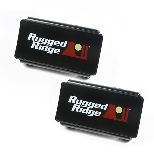 Rugged Ridge LED Light Cover Kit, 6 Inch, Black 15210.47