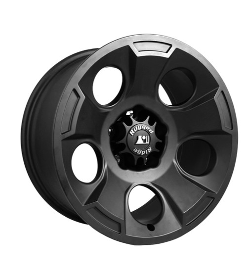 Rugged Ridge Drakon Wheel, 17x9, Black Satin; 07-16 Jeep Wrangler JK 15302.01