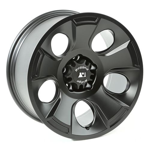 Rugged Ridge Drakon Wheel, 18x9, Black Satin; 07-16 Jeep Wrangler JK 15302.02