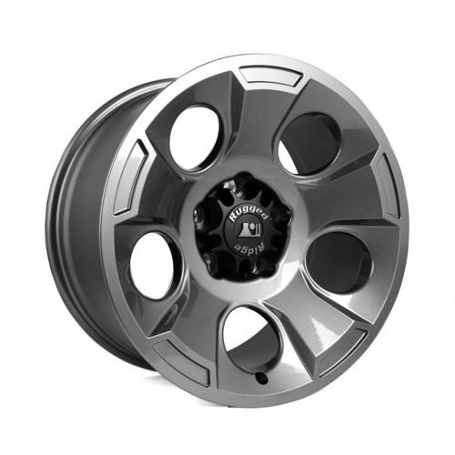 Rugged Ridge Drakon Wheel, 17x9, Gun Metal; 07-16 Jeep Wrangler JK 15302.30