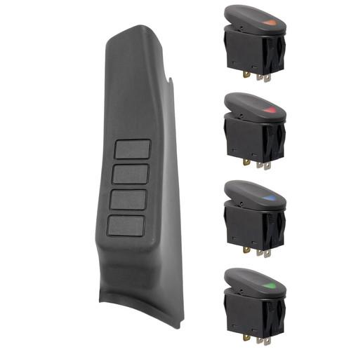 Rugged Ridge A-Pillar Switch Pod Kit, Black, LHD; 07-10 Jeep Wrangler JK 17235.86