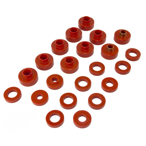 Rugged Ridge Body Mount Kit, Red, 22 Pieces; 76-79 Jeep CJ Models 18351.02