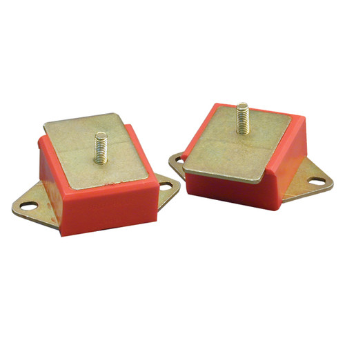 Rugged Ridge Engine Mounts, Red Polyurethane, Pair, 3.8L/4.2L; 71-86 Jeep Models 18390.01