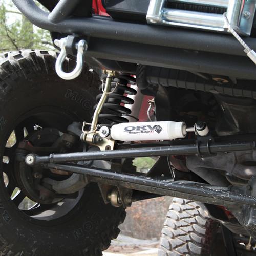 Rugged Ridge Steering Stabilizer; 55-86 Jeep CJ5/CJ6/CJ7/CJ8 18475.01