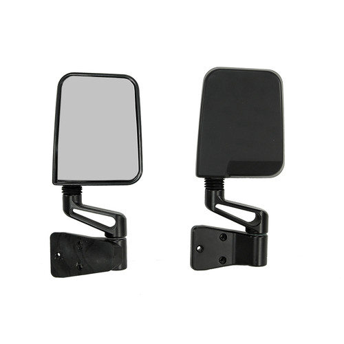 Rugged Ridge Mirror Pair Black; 87-02 Jeep Wrangler YJ/TJ 7694
