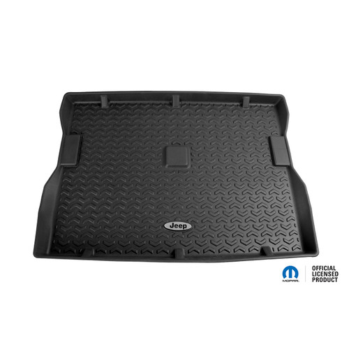 Rugged Ridge Cargo Liner, Black, Jeep Logo; 76-95 Jeep CJ7/Wrangler YJ DMC-12975.22