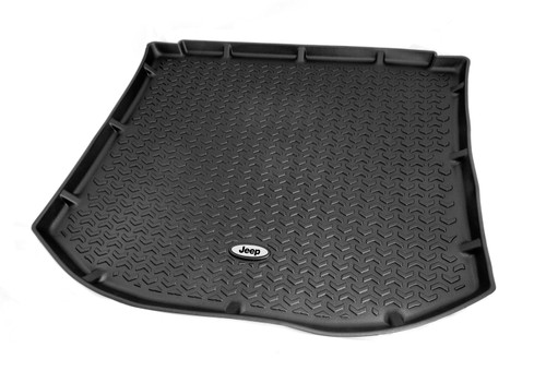 Rugged Ridge Cargo Liner, Black, Jeep Logo; 84-01 Jeep Cherokee XJ DMC-12975.29
