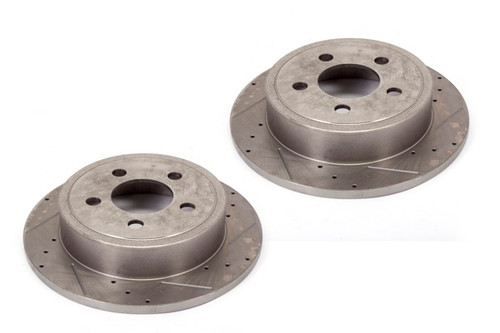 Alloy USA Disc Brake Rotors (2)R, 12 in, Drilled/Slotted; 07-17 Jeep Wrangler JK 11354