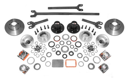 Alloy USA Manual Locking Hub Conver Kit; 84-06 Jeep Cherokee/Wrangler XJ/YJ/TJ 12198