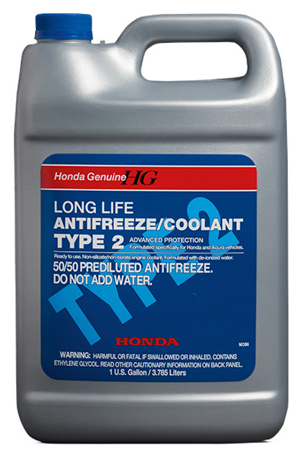 Honda Genuine Long Life Antifreeze / Coolant Type 2. OL999-9011. 1 Gallon