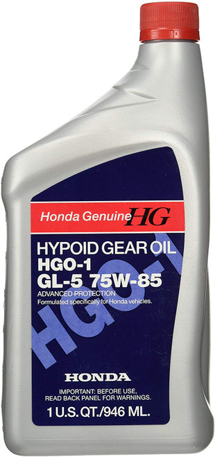 Honda Genuine Hypoid Gear Oil HGO-1 API GL-5 SAE 75W-85. 08200-9014. 1 Quart