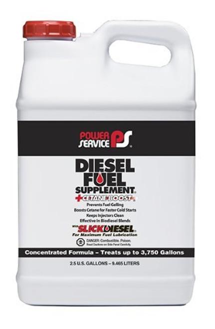Power Service Diesel Additives DIESEL FUEL SUPPLEMENT +CETANE BOOST 1050-01 2.5 Gallon Jug