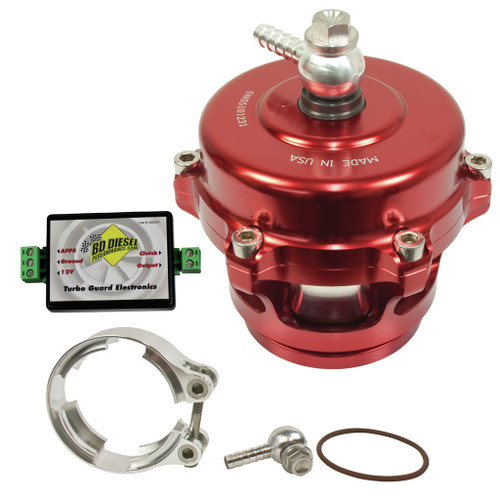 BD Diesel Turbo Guard Kit - Steel Adapter / Red Valve 1047250SR