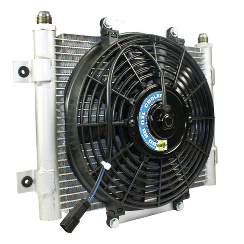 BD Diesel BD Xtrude Transmission Cooler with Fan -10 JIC Male Connection 1300611