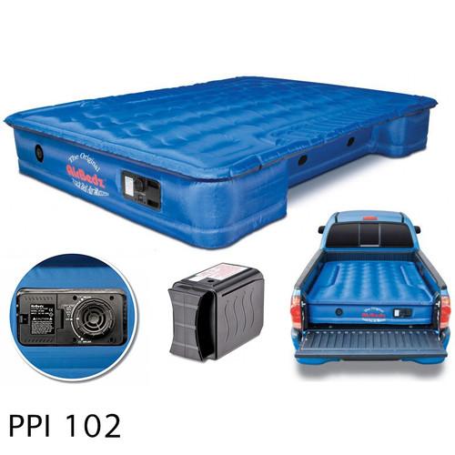 "AirBedz Original Truck Bed Air Mattress PPI 102 Fullsize 6'-6.5' Short Bed (76""x63.5""x12"") With Built-in Rechargeable Battery Air Pump"