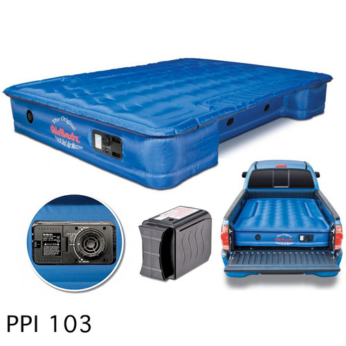 """AirBedz Original Truck Bed Air Mattress PPI 103 Midsize 6'-6.5' Short Bed (73""""x55""""x12"""") With Built-in Rechargeable Battery Air Pump"""