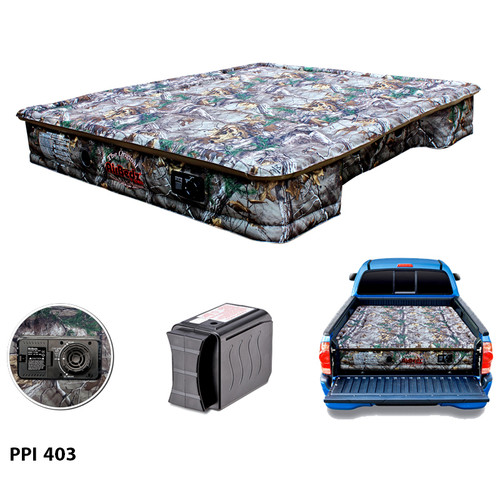 """AirBedz Original Truck Bed Air Mattress PPI 403 Midsize 6'-6.5' Short Bed (73""""x55""""x12"""") With Built-in Rechargeable Battery Air Pump"""