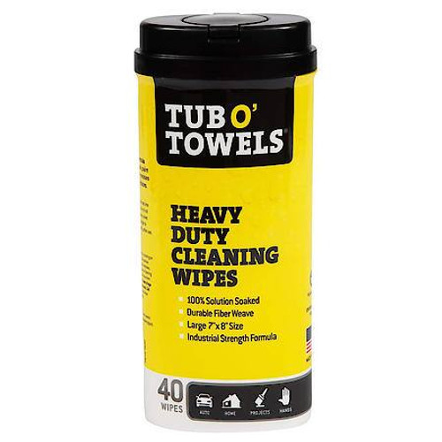 Tub O' Towels Tub O' Towels Heavy Duty Cleaning Wipes, 40 Count