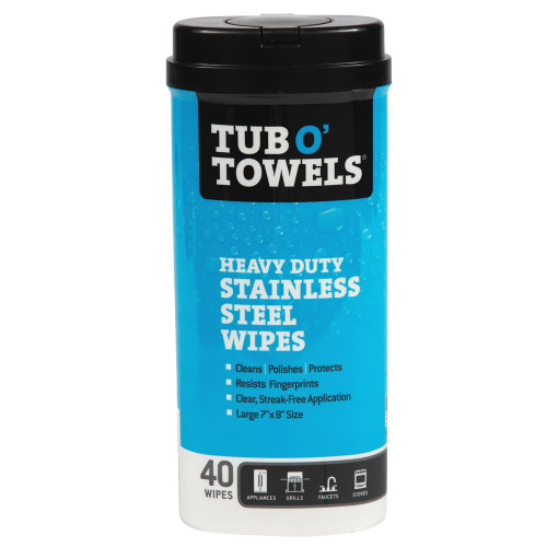 TUB O' TOWELS Stainless Steel Cleaning Wipes TW40-SS