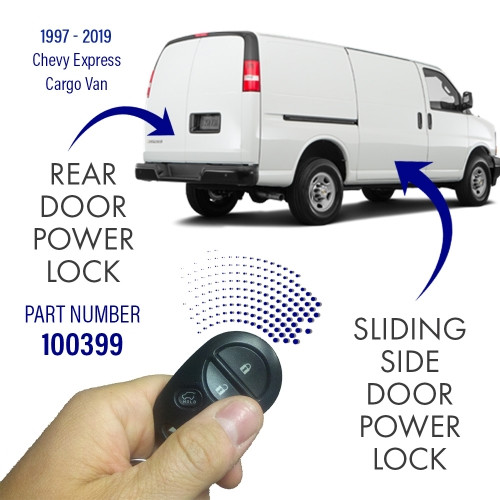 Pop & Lock Chevrolet Express Sliding Side & Rear Door Power Lock Combo Kit. 100399