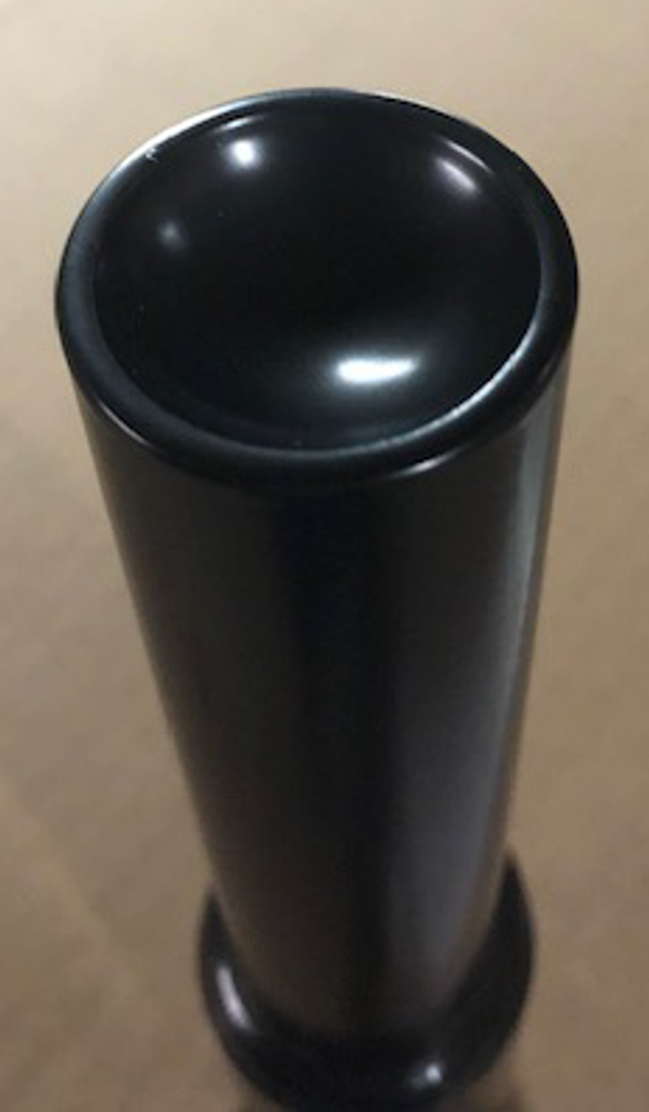 """Optional 6"""" Top Ram Extension - Top View - Concave top cradles the jack point"""