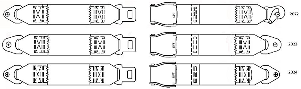 Cessna 100 Series Lap Belts