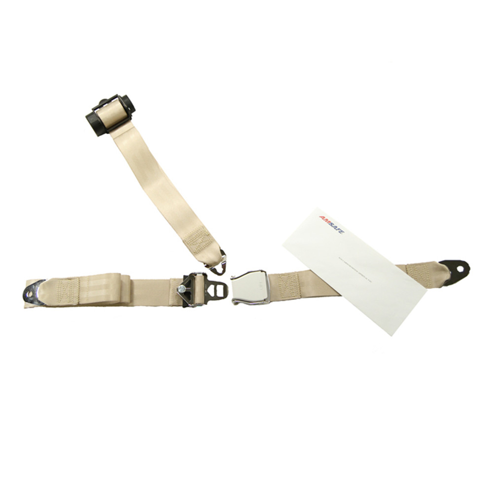 Piper PA34 Rear Inertial Reel Shoulder & Lap Belt Replacement  - Px 3 & 4
