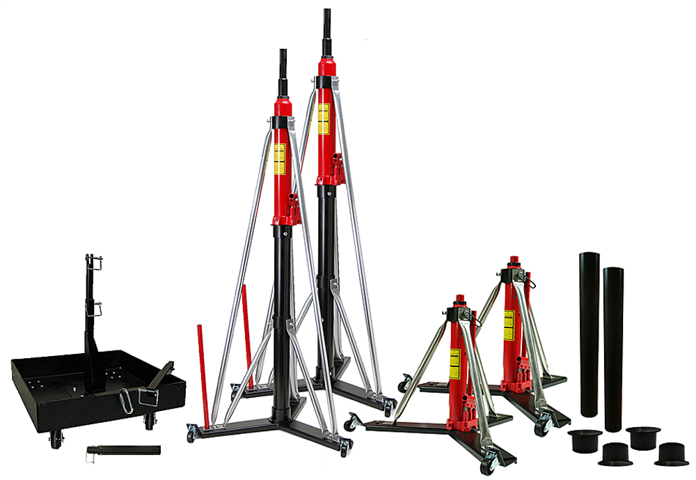 "324W x 2, 362W x 2, 30"" Riser x 2, Riser End Caps x 2, Portable Tailweight 535 x 1, Addt'l 13"" TW Extension"