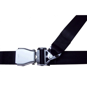3 Point - Shoulder Harness attaches at the lap belt