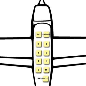 Beechcraft Rear Lap Belt