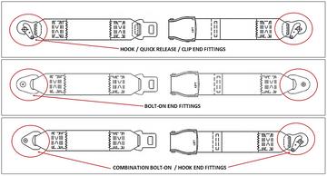 Mooney M20 Rear Lap Belt - Lift Lever