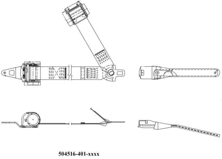 AmSafe Inertial Reel PN 504516 Replacement