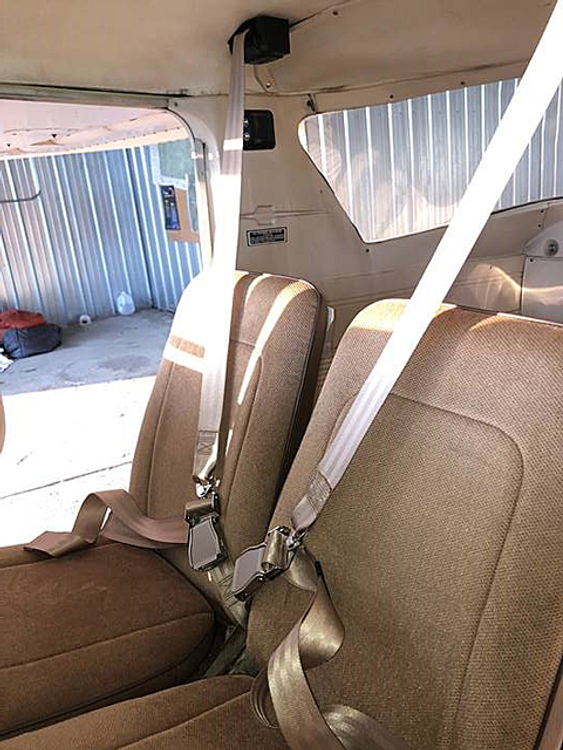 Cessna 150 Inertial Reel Equipped STC installed into a 150K Model