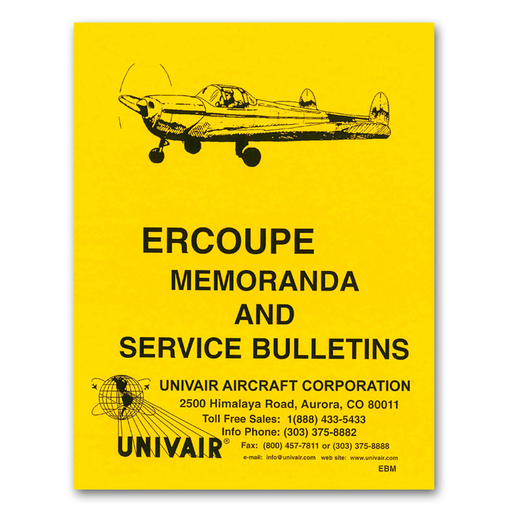 A complete collection of Ercoupe service bulletins and memorandums