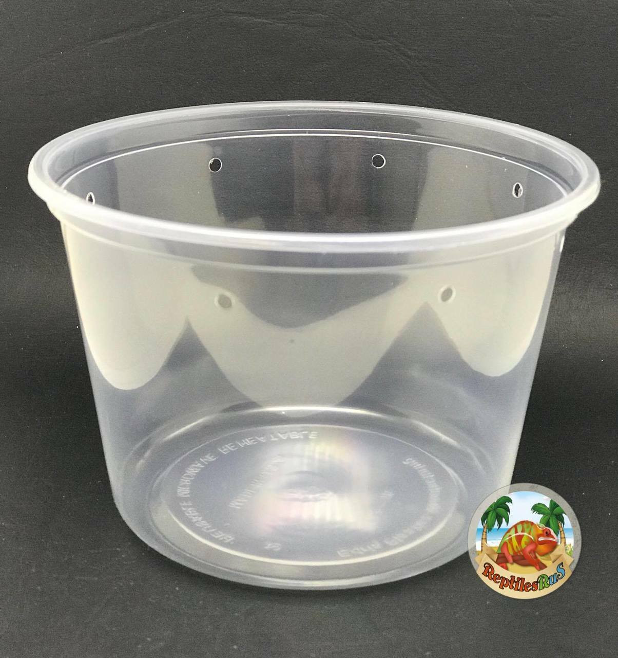 All Things Reptile Slightly Opaque 4.5 Pre-punched Deli Cup 16oz 10 PACK