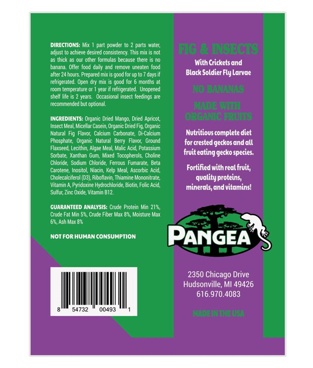Pangea Pangea Fig and Insects Complete Gecko Diet 8oz