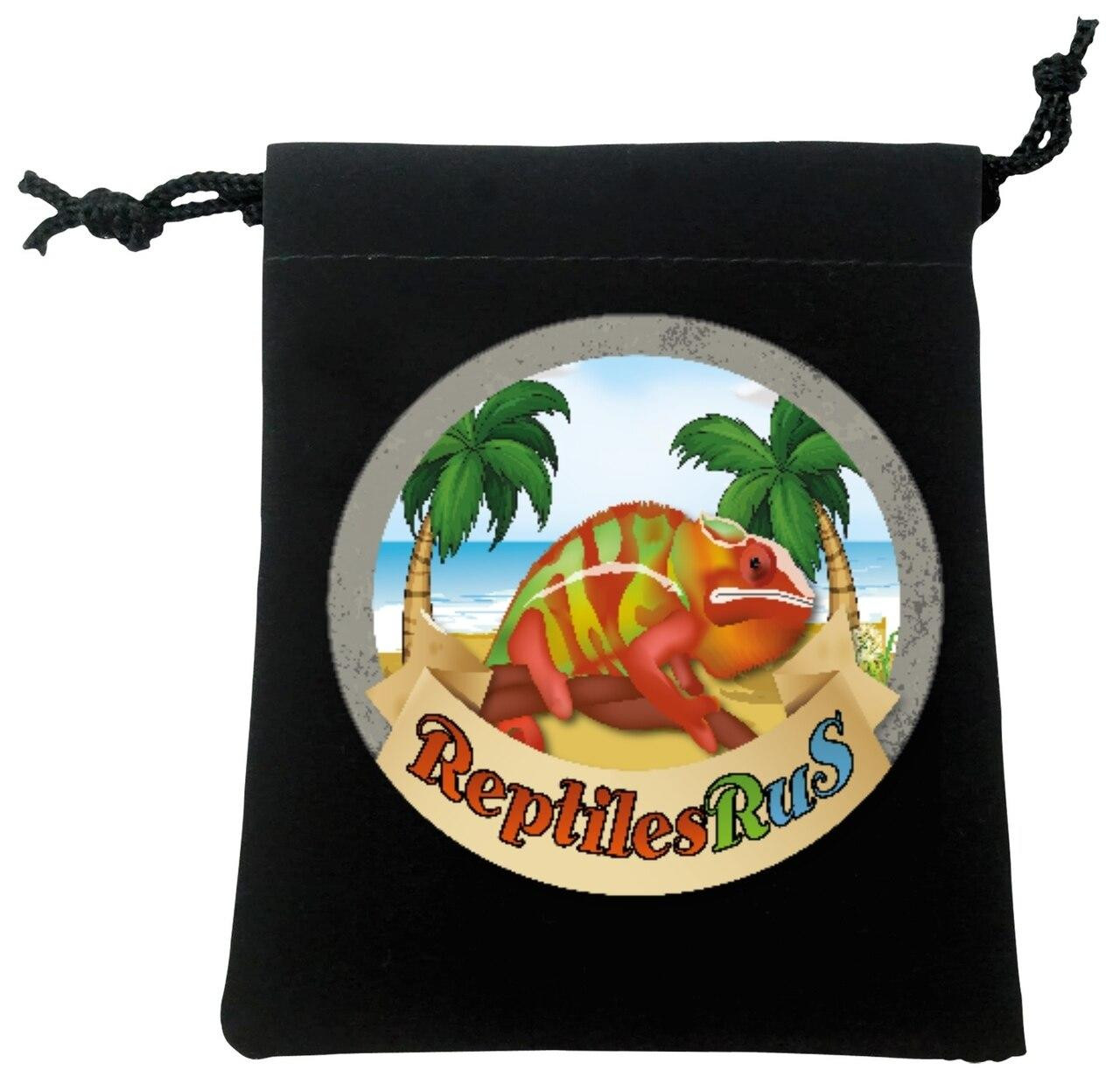 All Things Reptile Necklace Gecko in Velvet Pouch