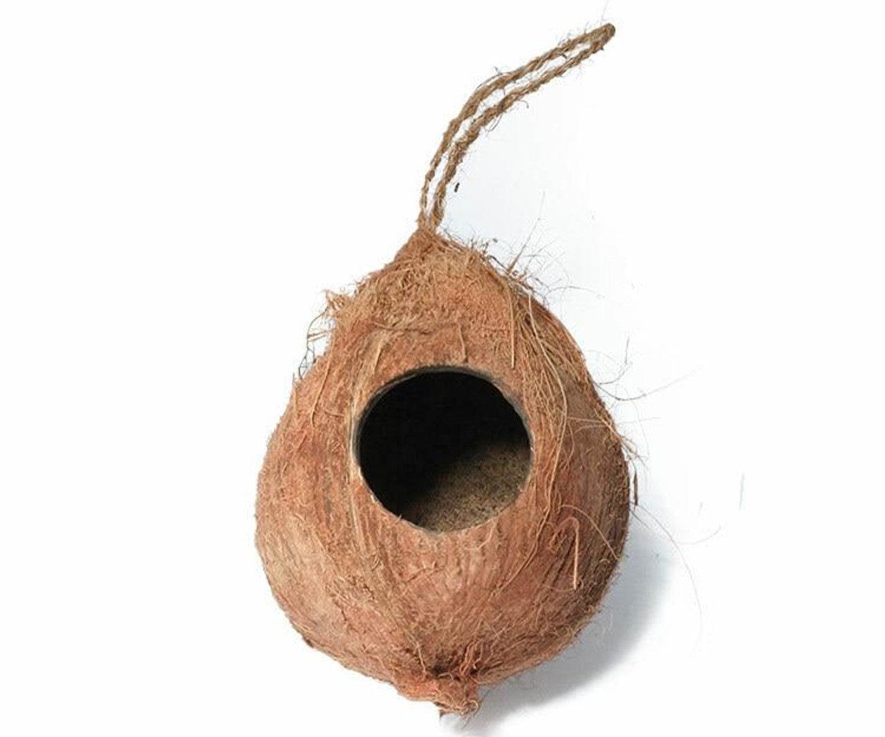 All Things Reptile Hanging Coconut Reptile Hide 2 Hole