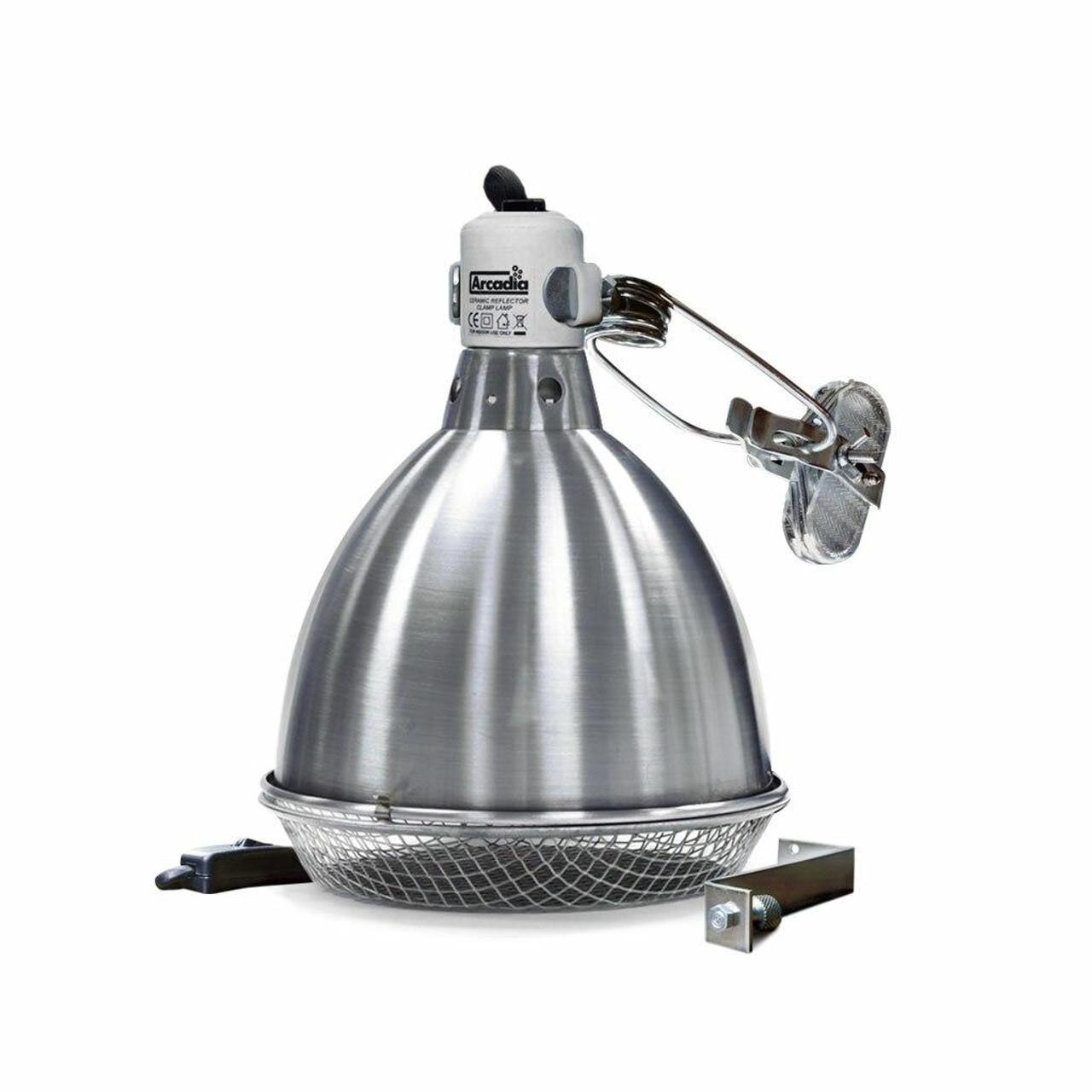 Arcadia ARCADIA CERAMIC DOME REFLECTOR CLAMP LAMP 200mm / 8″ CDN/USA PLUG