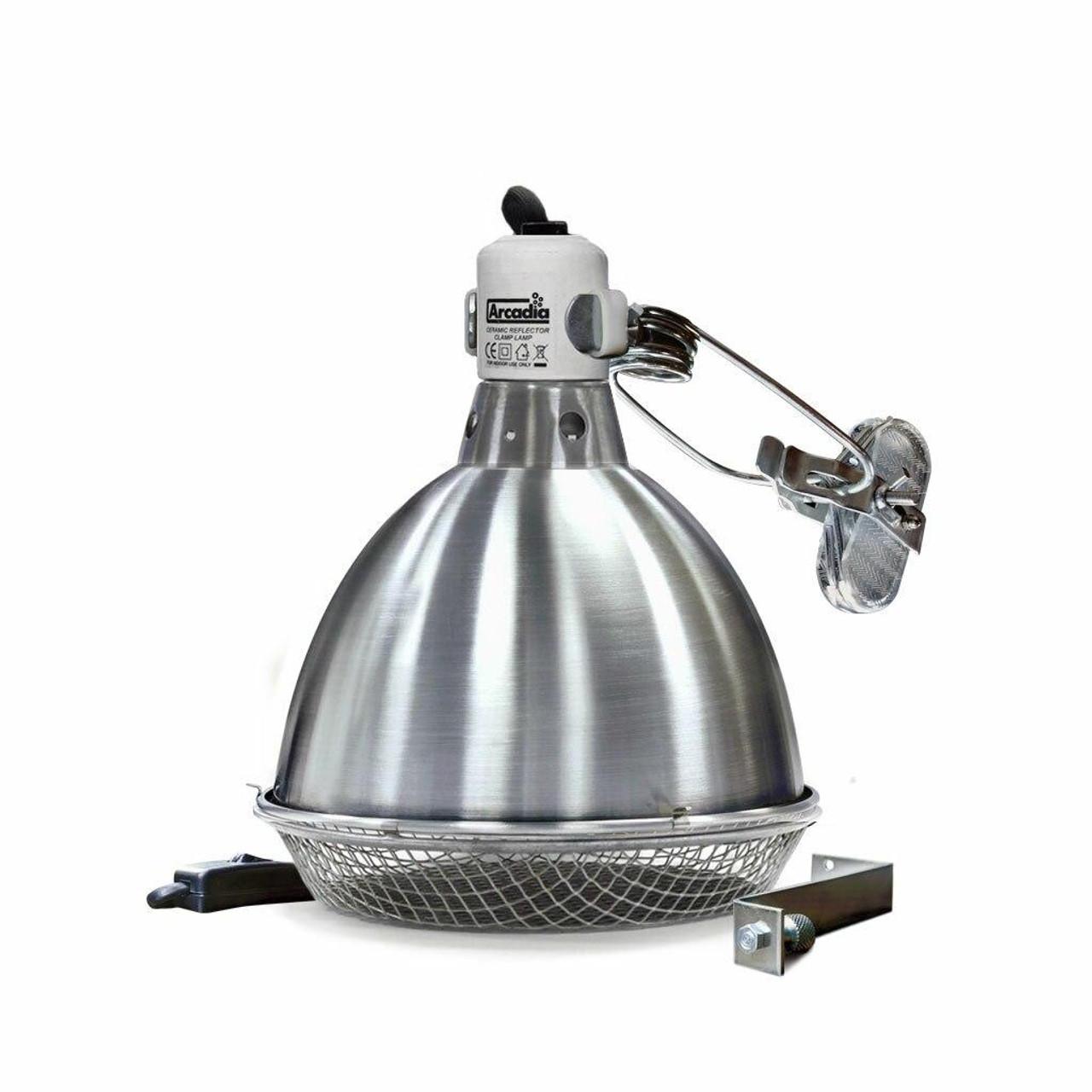 Arcadia ARCADIA CERAMIC DOME REFLECTOR CLAMP LAMP 140mm / 5.5″ CDN/USA PLUG